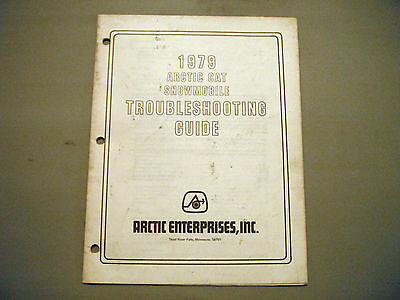 1979 Vintage Arctic Cat Troubleshooting Guide Covers All Models