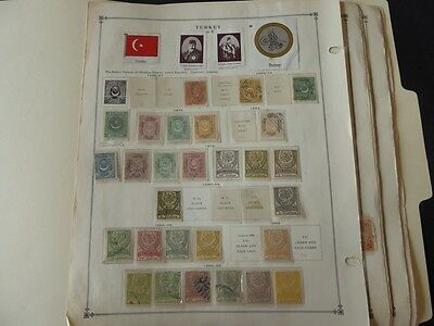 Turkey 1867-1940 Mint/Used Stamp Collection on Album Pages