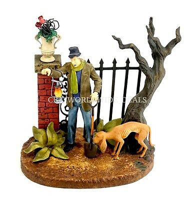 NEW Disney Parks 45th Anniversary Haunted Mansion Caretaker & Dog Figure Statue