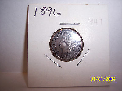 1896 Indian head cent penny FREE SHIPPING