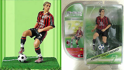 ANDRIY SHEVCHENKO Action Figures 3D Stars Football. (h 15cm) Milan. NUOVO NEW