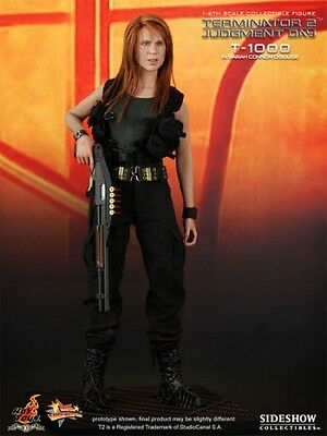 Terminator 2 -  Sarah Connor Disguise T-1000 1/6 Actionfigur Hot Toys Sideshow