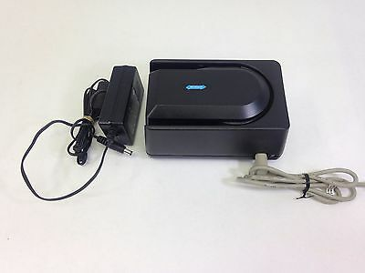 Magtek MICR Mini RS232 Hypercom Check Reader With Cable and Adaptor Black