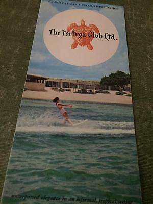 Lot Vintage Cayman Islands Map Brochure Tortuga Club Booklet Map