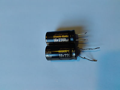 Rubicon Black Gate STD 2200uF 16V capacitors
