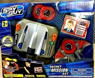 2 BOX Spy Guy Secret Mission Set Binoculars or Camera Spy Eye,Spy ID Cards,Disc