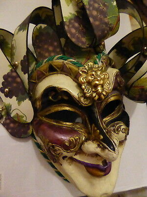 Masquerade /Steampunk/jester/Costume/Handmade Mask totally awesome mask-UNIQUE
