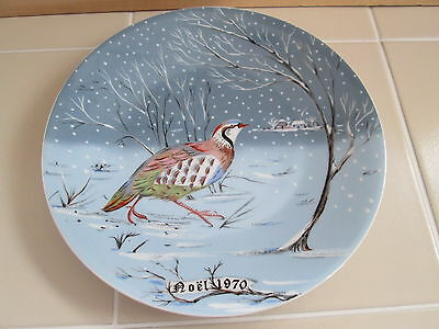 Haviland Limoges France 12 Days of Christmas Plate Hetreau Partridge Pear Tree
