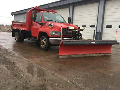 GMC Chevy 5500 Topkick Dump truck Plow and Spreader