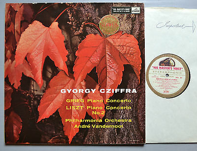 Asd 301 W/g. Gyorgy Cziffra - Greig / Liszt Piano Concertos - Stereo Uk Ed1 1959