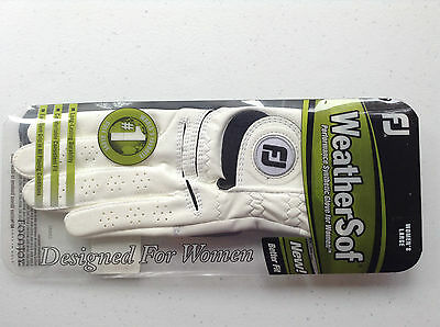Womens FootJoy WeatherSof Golf Glove, Womens Regular Left Large White, Brand New