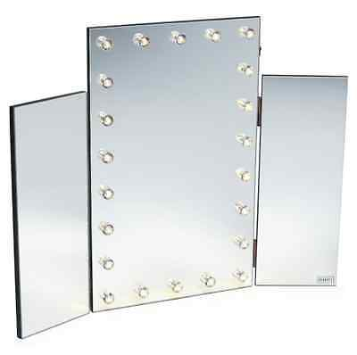 New Large Makeup Mirror Tri Fold Mirror With Led Lights Stylish Mirrors Floor