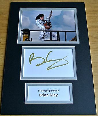 Brian May Hand Signed Autograph A4 Photo Display Queen Gift See Proof & Coa
