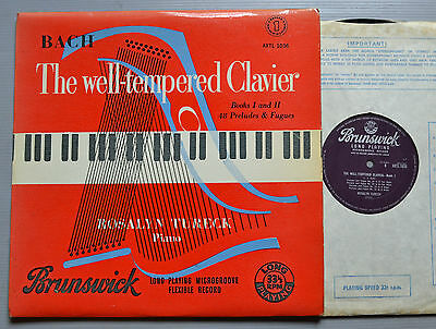 Axtl 1036. Rosalyn Tureck - Bach - Well Tempered Clavier - Part 1 - Mono Uk Rare