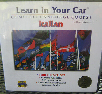 Sealed Learn in your Car Learn to Speak Italian Language Course Audio Cassettes