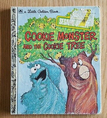 A Little Golden Book Sesame Street Cookie Monster and the Cookie Tree 1991