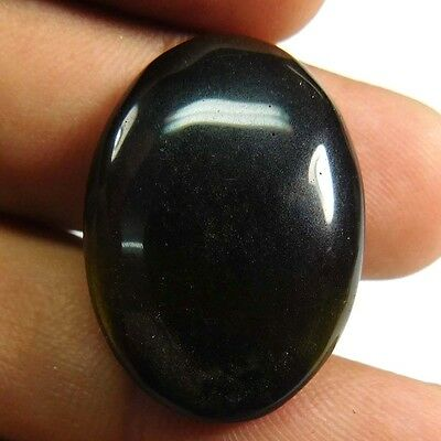 23.70 cts 100% Natural Rainbow Obsidian Oval Shape Gemstone Cabachon