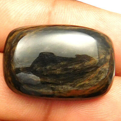 26.95 cts Natural Nice Untreated Copper Obsidian Gemstone Octagon Loose Cabochon