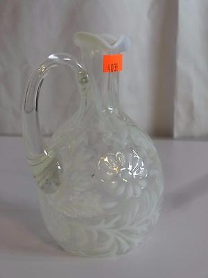 Vintage French Opalescent Daisy and Fern (L.G. Wright Style) Vase - 4038
