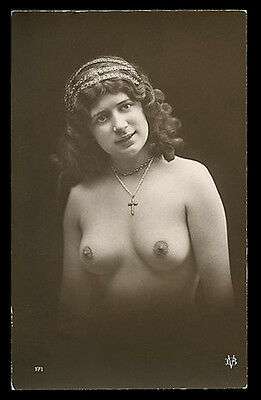 French YOUTHFUL Nude PORTRAIT Curly Hair MARVELOUS Agelou 1915 ~ PARIS Latest