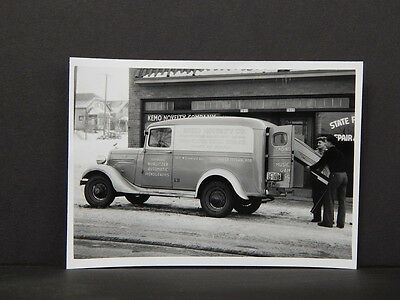 Vintage Delivery Truck, Photo Reprint, c. 1930s Wisconsin, Kemo Novelty Co V#17