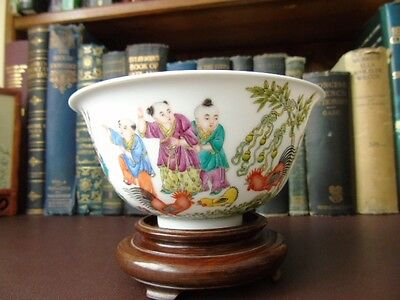 Late 19th/Early 20th c Chinese Jingdezhen, Eggshell Porcelain, Famille Rose Bowl