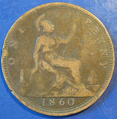 1860 1d Victoria Bun Head Penny - N over Z in ONE