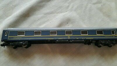 A model railway sleeping car coach in N gauge by fleischmann boxed