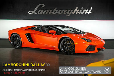 2015 Lamborghini Aventador LP700-4 Roadster Convertible 2-Door FACTORY CERTIFIED!+NAV+Q-CITURA+DIONE WHLS+TRANSPARENT ENGINE+REAR CAMERA