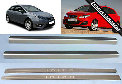 Seat Ibiza 2 Door Stainless Sill Protectors Kick Plates model released in 2008