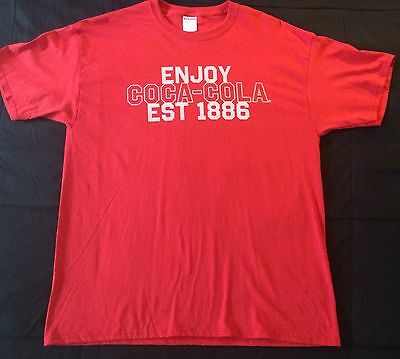 Coca Cola Men's Red Graphic T-shirt Size XL