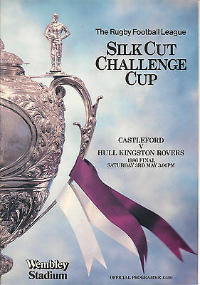 R.L.Silk Cut Challenge Cup Final-Castleford v Hull Kingson Rovers 1986-Programme
