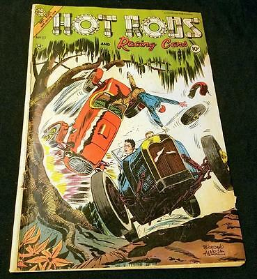 Hot Rods And Racing Cars # 17 Charlton 1955 Scare Vg/fn