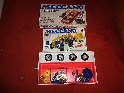 1978 Meccano Extension Pack For Sets 3 & 4 Parts Plus Instructions
