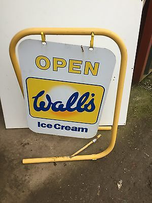 Vintage Walls Ice-cream Open Freestanding Shop Sign Cafe Tearooms   16/1/Z