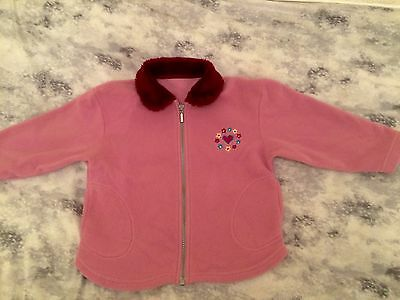 Children Kids Girls Winter Pink Jumper Cardigan Marks And Spencer Age 3-4 Years