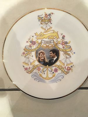 Bone China Plate For Prince Andrew & Sarah 1986