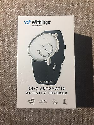 Withings Activite Steel Watch HWA01 Activity Tracker - Steel White & Black