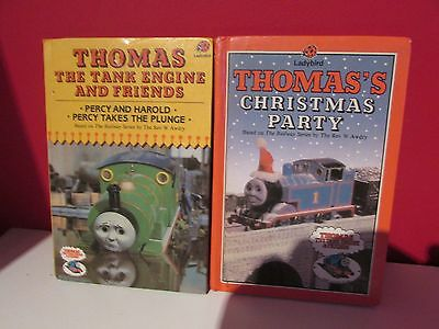 ladybird books x 2( thomas the tank engine + thomas`s christmas party )hardbacks
