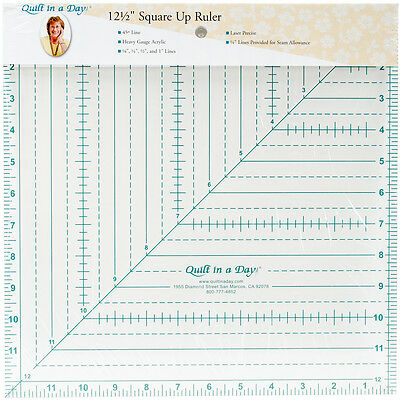 """Quilt In A Day Square N' Fussy Ruler-1-1/2"""" To 9-1/2"""" 2045QD"""