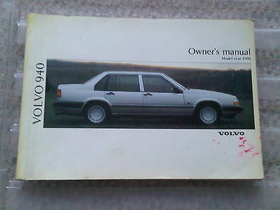 Volvo 940 Owners Manual Handbook Instruction Book 1991 Model Year