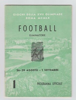 Orig.Complete PRG  Olympic Games Rom 1960   FOOTBALL / with GB  !!  EXTREM RARE