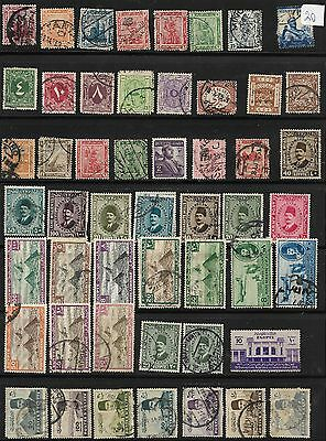 Egypt Mixed Lot on 2 Stock Pages