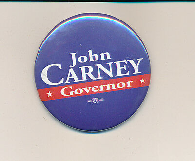 "John Carney for governor 2 1/4"" Delaware DE campaign button"