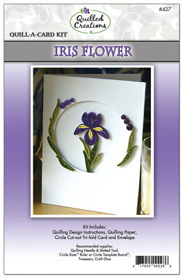 Quilled Creations Quill-A-Card Kit - Iris Flower