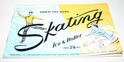 Vintage 1959 Know The Game Skating Ice & Roller Instruction Booklet Super Rare