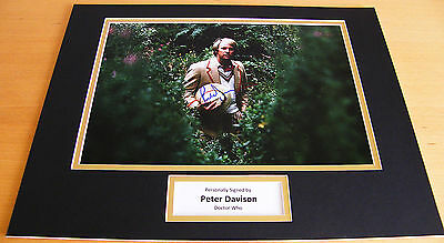 Peter Davison Genuine Hand Signed Autograph 16X12 Photo Mount Doctor Dr Who Coa