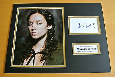 ALEXANDRA DOWLING SIGNED AUTOGRAPH 16x12 PHOTO MOUNT DISPLAY MUSKETEER ACTOR COA
