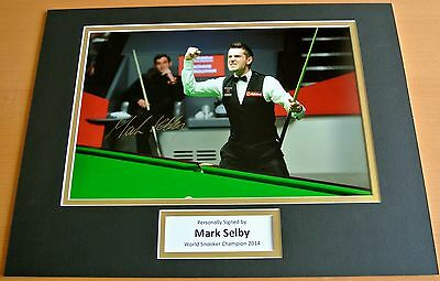 MARK SELBY HAND SIGNED AUTOGRAPH 16x12 PHOTO MOUNT DISPLAY SNOOKER CHAMPION COA