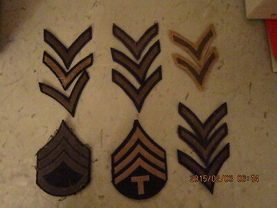 Lot  Military Patches US Insignia Set Stripes